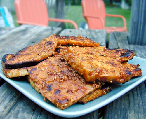 "Barbecued"" Tofu Recipe — Dishmaps"